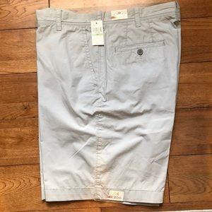 New w Tags Light Gray IZOD Cotton Shorts 34